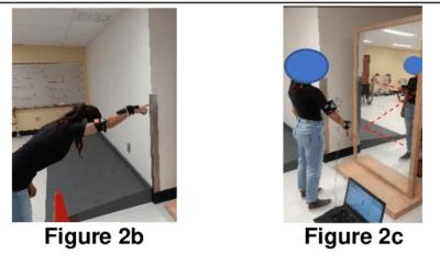 Analyse des mouvements d'épaule avec capteurs.